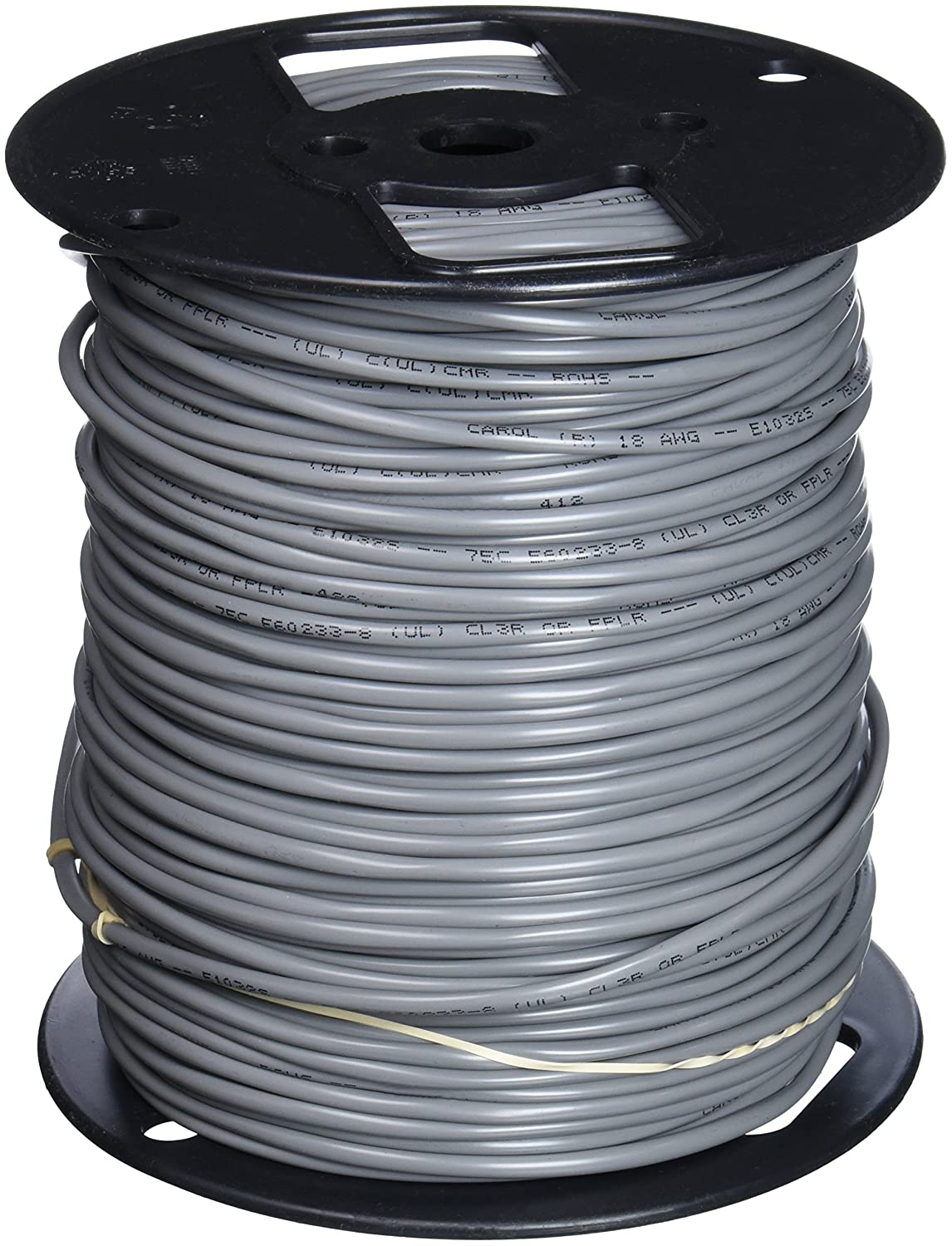 CAROL Data// Communications Cable C6348A.18.10 2 Wire,Gray 100ft