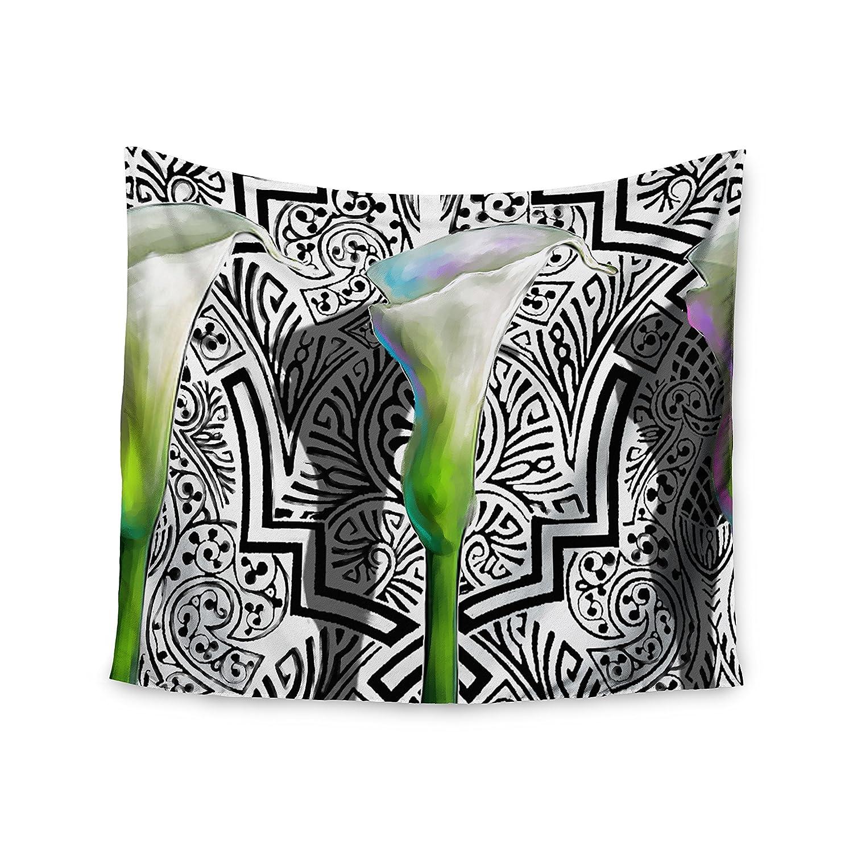 Seema Z Three Lily Wall Tapestry 68 X 80 Kess InHouse S