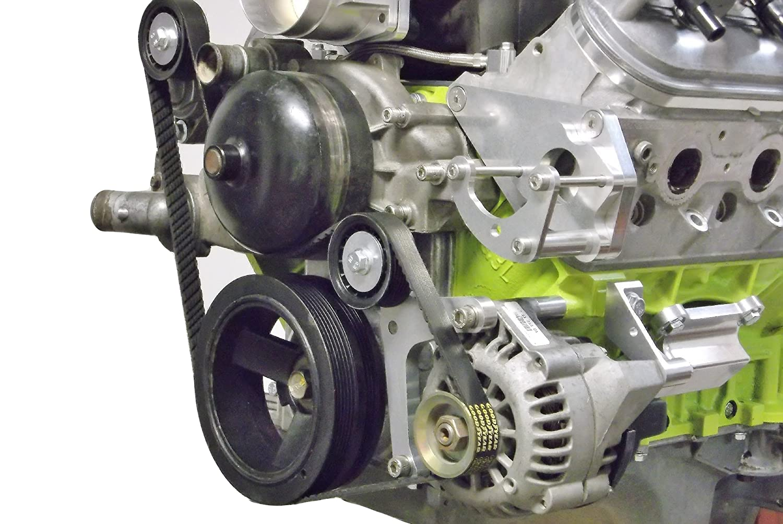 LS1 Alternator Only BELT & PULLEY LSX LS Power Steering Delete 551550 ICT Billet