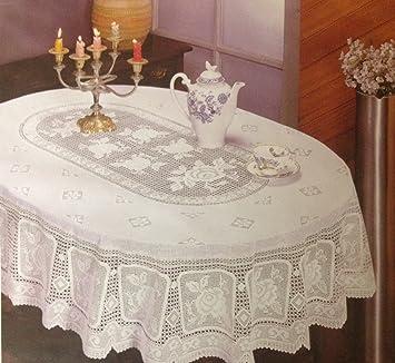 Crochet Vinyl Tablecloth (54u0026quot; X 72u0026quot; Oblong)