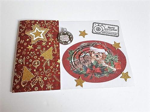 Croissant Carte de Noël en 3D scrapbooking, carte de vœux papier carton de HO-32