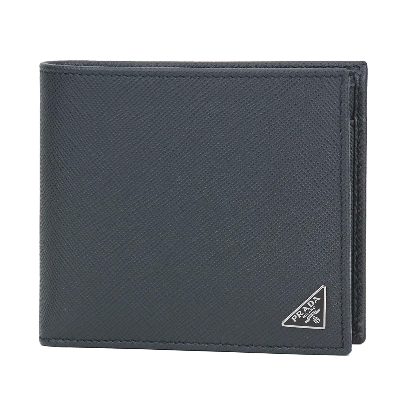 プラダ(PRADA) 2つ折り財布 2MO738 QHH F0216 サフィアーノ トライアングル ダークネイビー [並行輸入品] B074GPV3Y5