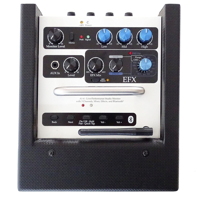 Elite Acoustics A1 - 4 CFB amplificadores de guitarra de 3 canales Mini PA Box batería de funciona con efectos Keepdrum 6 m XLR Cable: Amazon.es: ...