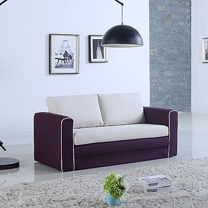 Groovy Modern 2 Tone Modular Convertible Sleeper Purple Beige Andrewgaddart Wooden Chair Designs For Living Room Andrewgaddartcom