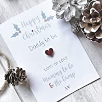 Daddy To Be Personalised Christmas Card From Mummy & Bump