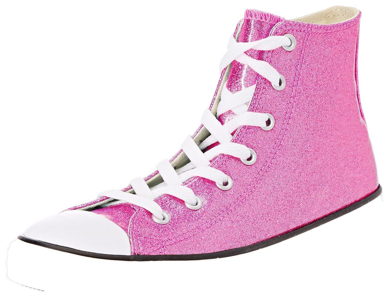 Violet (Bright Violet Natural blanc 502) Converse Chuck Taylor CTAS Hi Synthetic, Chaussures de Fitness Mixte Enfant 34 EU