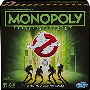 Monopoly Game: Ghostbusters Edition; Monopoly Board Game for Kids Ages 8 and Up