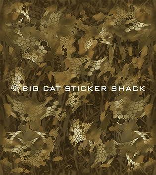 Deer Hunting Green Camouflage Removable Matte Sticker Sheets Set