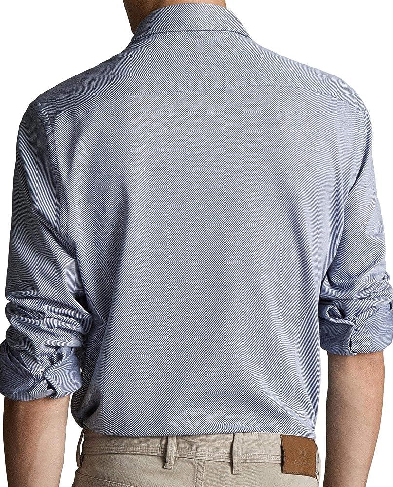 MASSIMO DUTTI 0174/035/400 - Camisa de Manga Corta para Hombre (Ajustada) Azul XL: Amazon.es: Ropa y accesorios