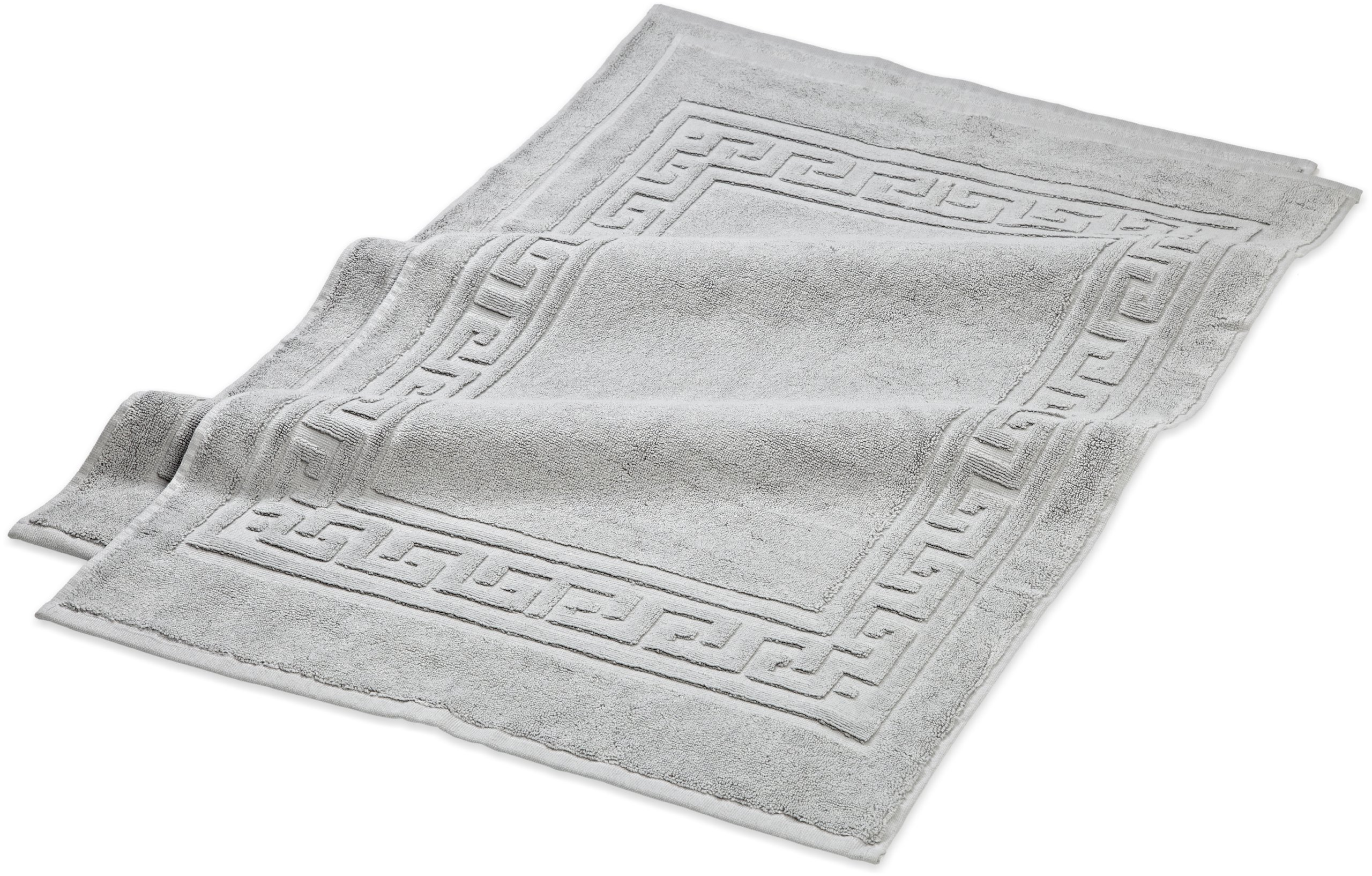 Superior Hotel & Spa Quality Bath Mat Set of 2, Made of 100% Premium Long-Staple Combed Cotton, Durable and Washable Bathroom Mat 2-Pack - Silver, 22'' x 35'' each by Superior
