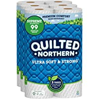 Quilted Northern Ultra Soft and Strong Earth-Friendly Toilet Paper, 24 Supreme Rolls = 99 Regular Rolls, 340 2-Ply…