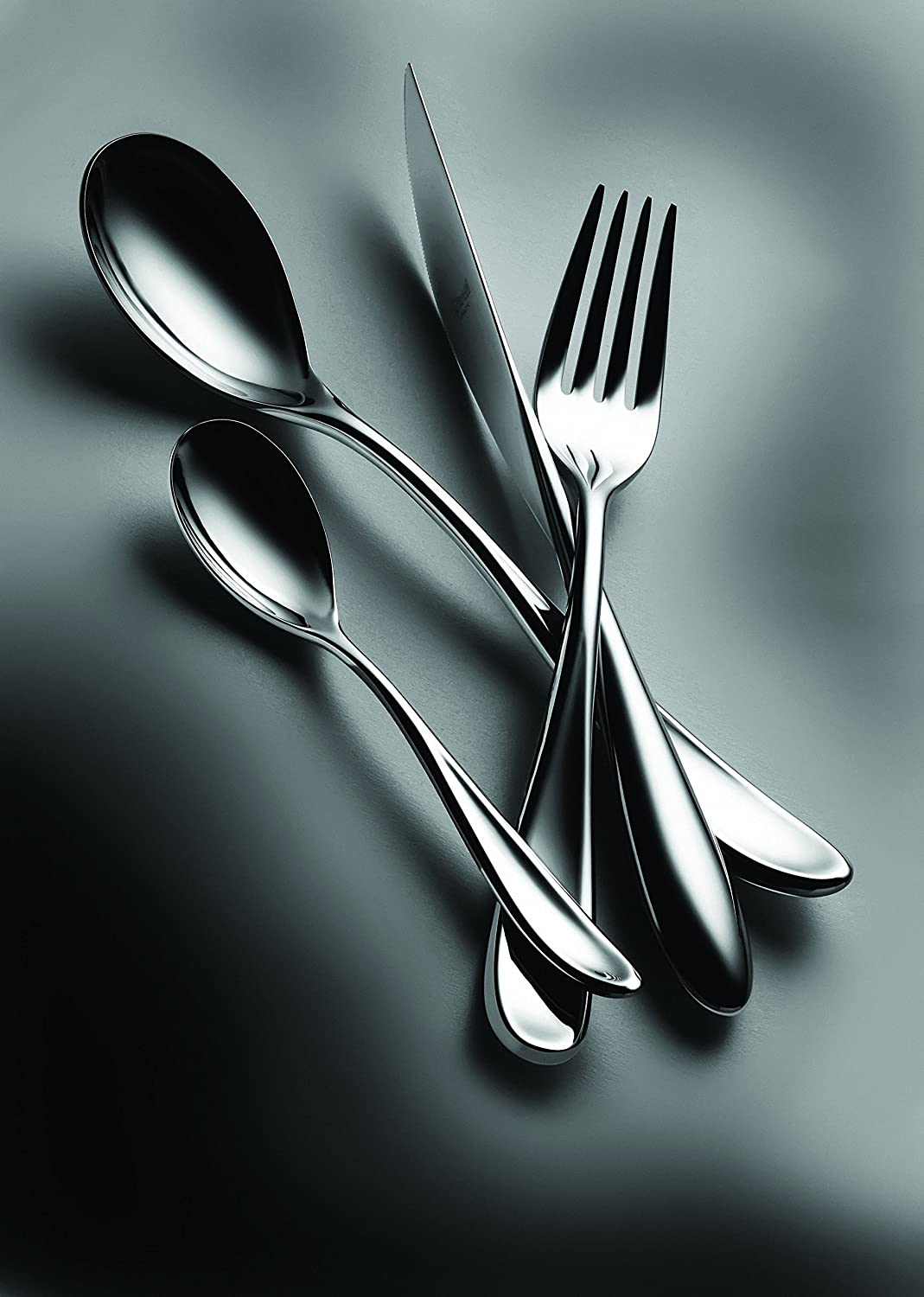 Amazon.com: Mepra Forma 5 Piece Place Setting, Stainless Steel ...