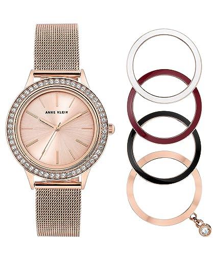 804533aeb36f Reloj de Pulsera para Mujer de Anne Klein con Mecanismo de Cuarzo y Correa  de Acero Inoxidable en Color Oro Rosa.  Amazon.es  Relojes
