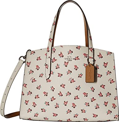 129889b77bf0 COACH Women s Floral Bloom Charlie Carryall Sv Chalk Multi One Size   Handbags  Amazon.com