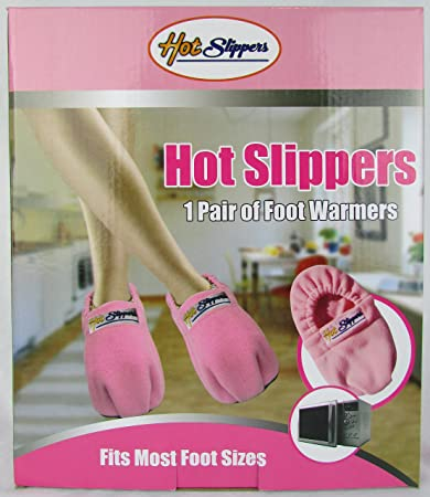 dd644ef3dca Image Unavailable. Image not available for. Color  Foot Warmers Reinforced Microwavable  Hot Slippers ...
