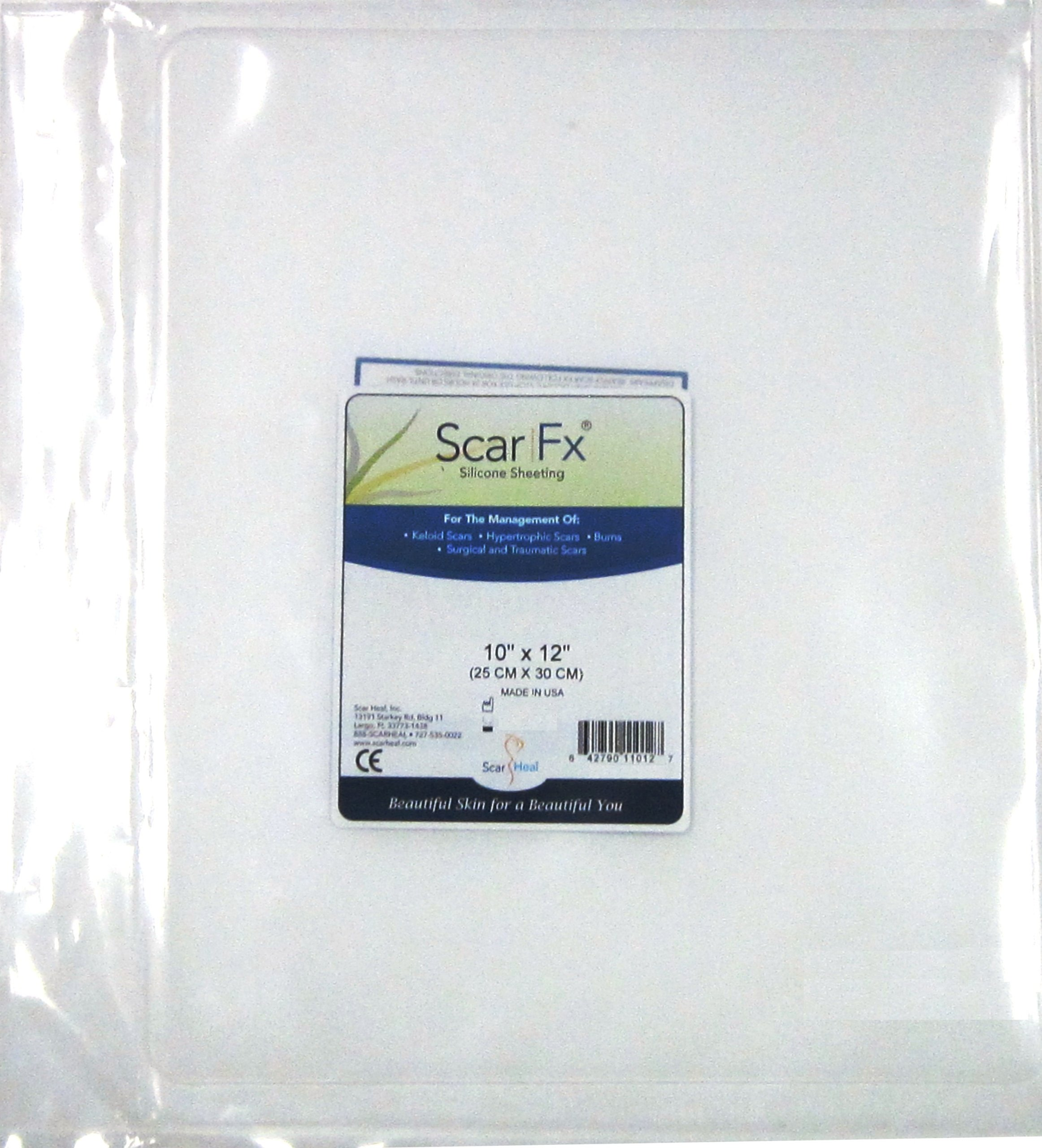 Scar Fx Silicone Scar Therapy, Size Of Patch 10'' X 12'', 1 Patch