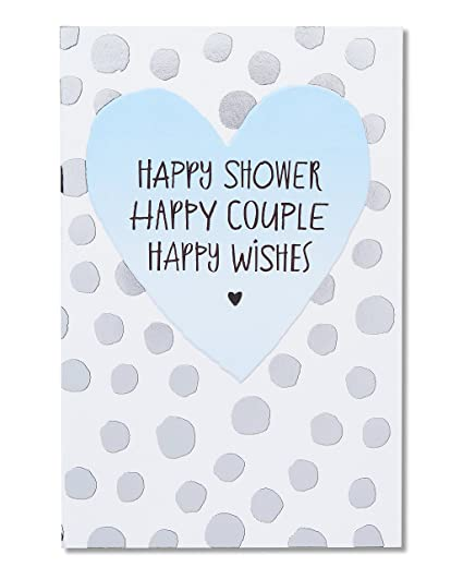 american greetings happy forever bridal shower card with foil