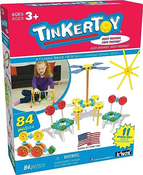 Amazon Com Tinkertoy Little Constructor S Building Set 84 Pieces