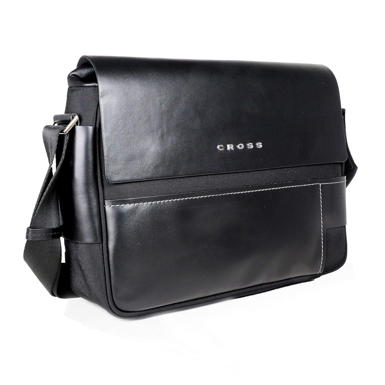 73ffbfa636 Cross Leather 10 cms Black Messenger Bag (AC151122N-1)  Amazon.in  Bags