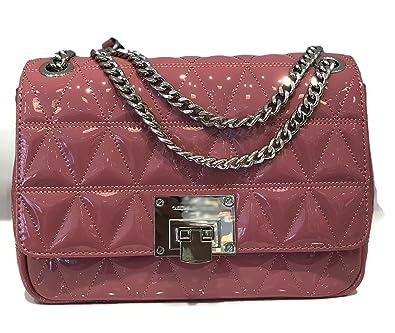 75b7780b9654 MICHAEL Michael Kors Vivianne Quilted Patent Leather Large Shoulder Flap Bag  - Tulip