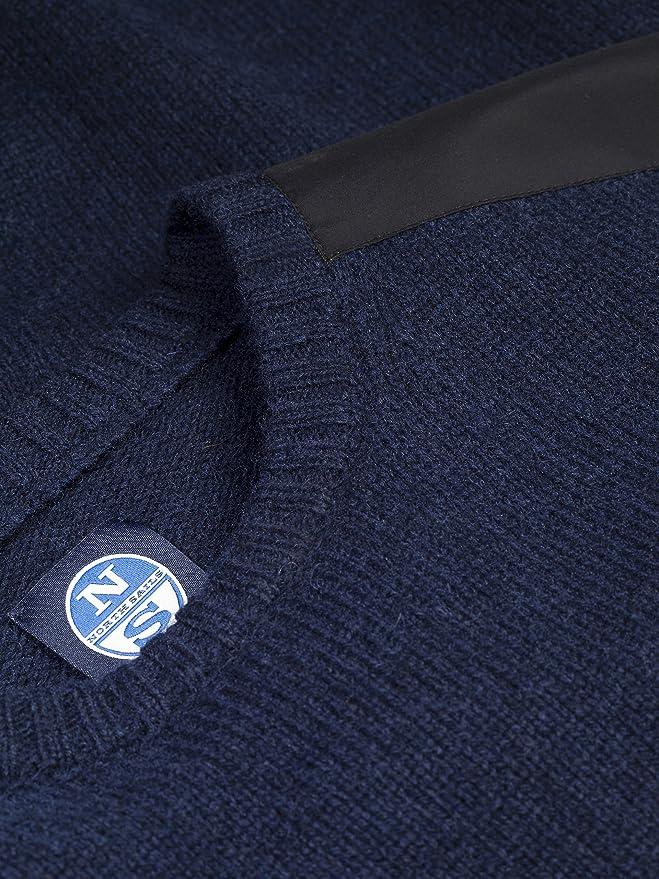 North Sails Los Hombres de Cuello Redondo suéter de Lana Eco Hydro ...