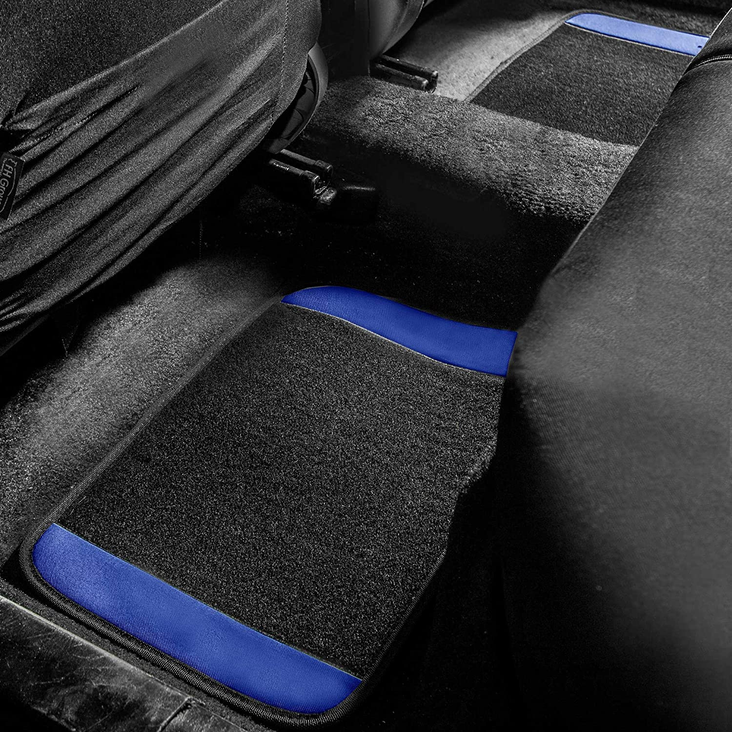 4 Piece FH Group Tray Style Car Mats F14409REDBLACK Deep Tray All Weather Floor Mats