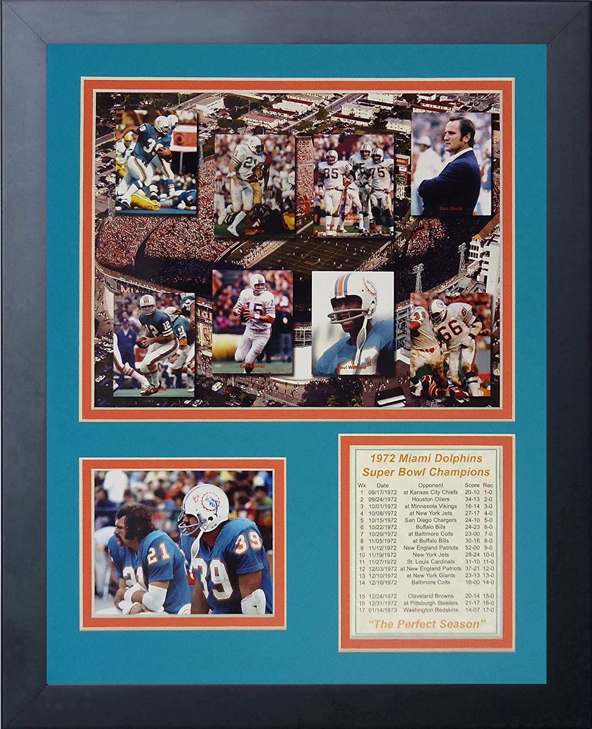 Amazon legends never die 1972 miami dolphins mosaic framed amazon legends never die 1972 miami dolphins mosaic framed photo collage 11x14 inch sports outdoors jeuxipadfo Image collections