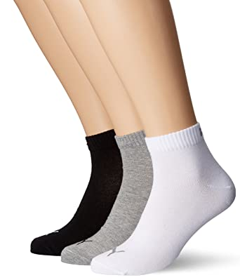 Puma Unisex Quarter Plain 3P, Socken 3 Paar