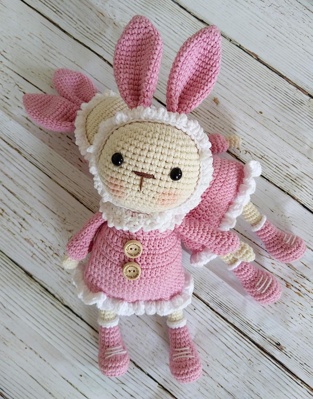 Crochet Big Flappy Ear Bunny Amigurumi Free Pattern - MK (With ... | 1500x1175
