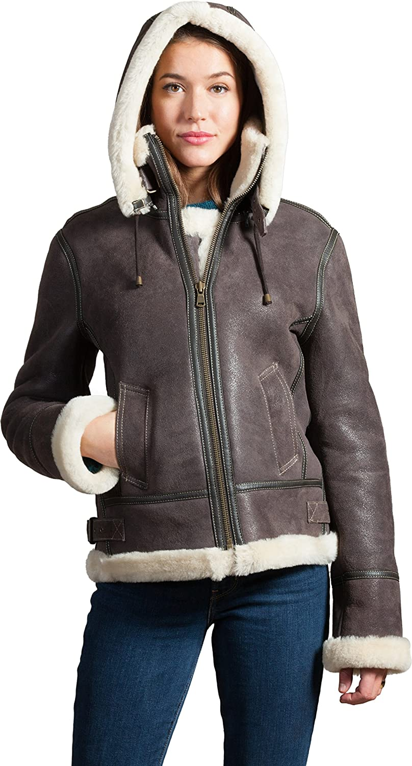 Overland Sheepskin Co OUTERWEAR レディース B0768225D9 SMALL (4-6)