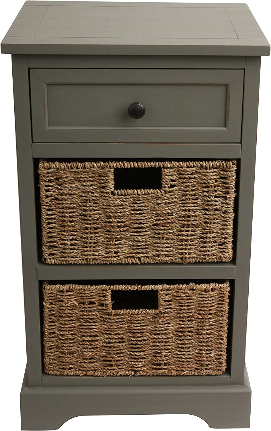 2 Baskets D/écor Therapy Antique White 2 Drawer