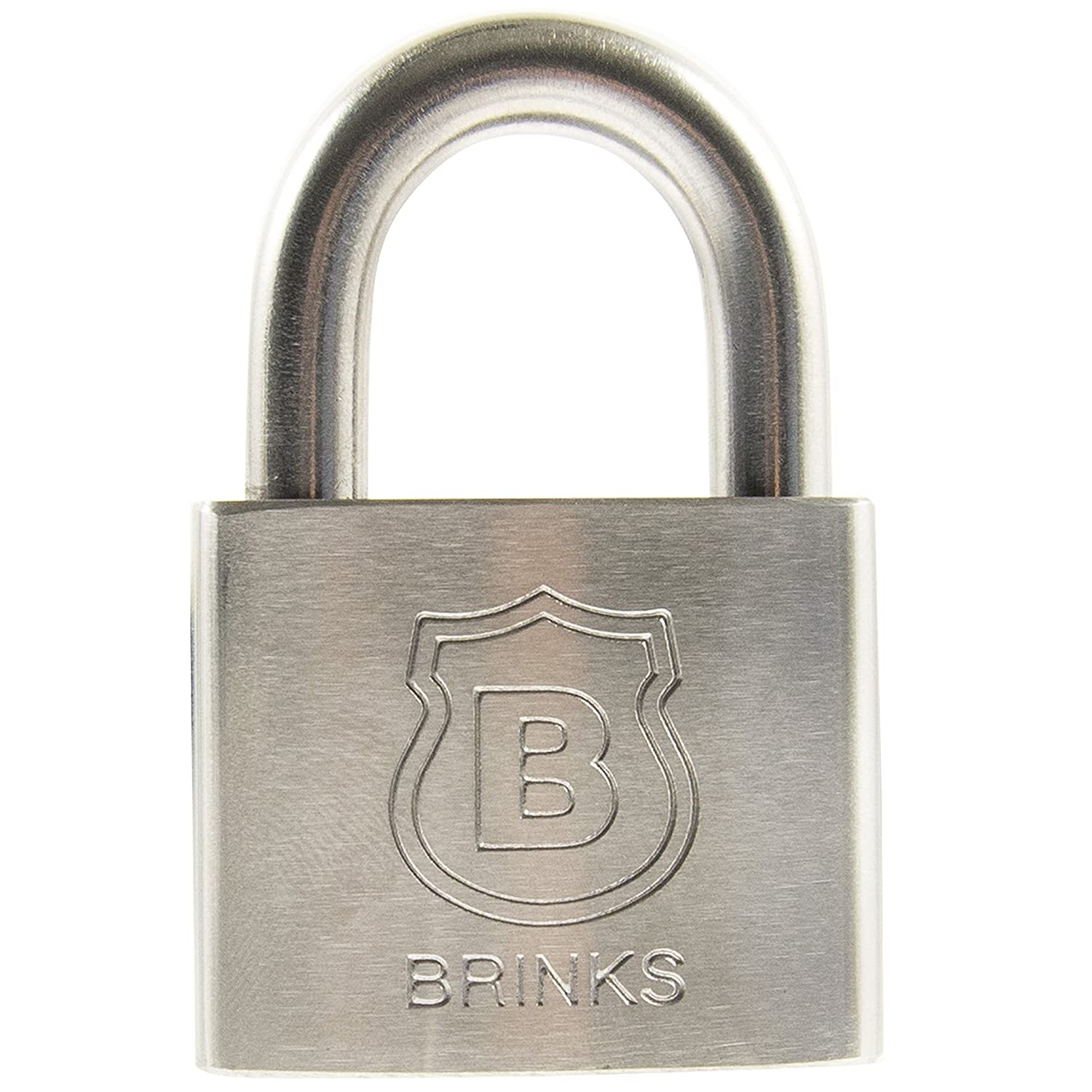 50mm Brinks 672-50811 Commercial 2 Solid Stainless Steel Padlock Hampton Products