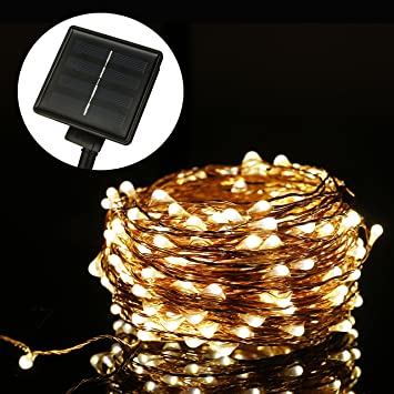 Solar Weihnachtsbeleuchtung.Aled Licht Starry Lichterkette Ambiente Beleuchtung Solar