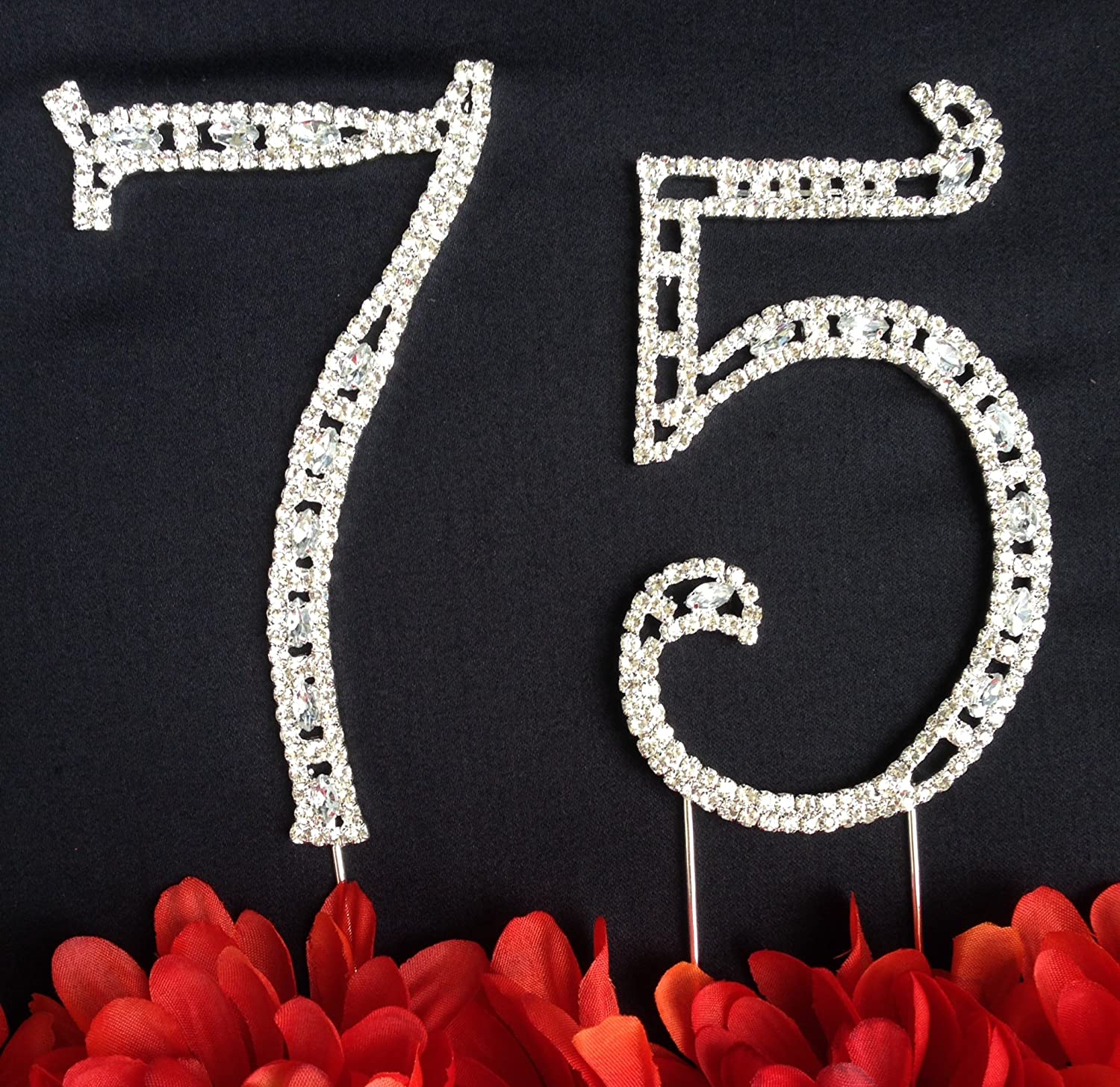 Amazon 75th Birthday Cake Topper Large 4 12 Tall 75th