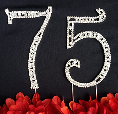 Amazoncom 75th Birthday Cake Topper Large 4 12 Tall 75th