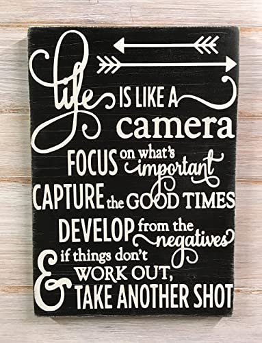 Amazon Com Life Is Like A Camera Life Is Good Life Quotes Wall