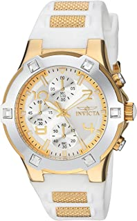 Invicta Womens BLU Quartz Gold-Tone and Silicone Casual Watch, Color: