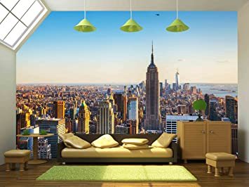 wall26 New York City Cityscape on a Sunny Day Removable Wall