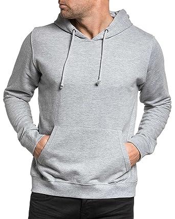 0940fcb99d0 BLZ Jeans - Sweat Homme Capuche Gris Poche Kangourou - Couleur  Gris -  Taille