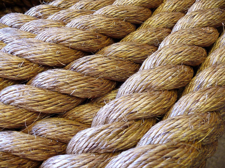 6 mm NATURAL Manille corde X 35 mètres Manille pour terrasse jardin bateaux Tug O War