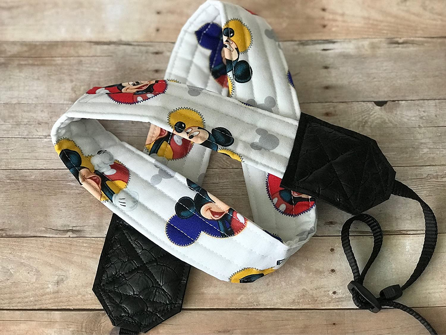 Mickey Mouse Camera Strap for dslr cameras (red, blue, yellow)