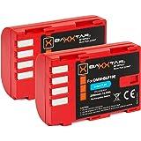 2x BAXXTAR Pro Rechargeable Battery for Panasonic DMW BLF19 E with Info Chip for Panasonic Lumix DC G9 GH5 GH5S DMC GH3 GH4 GH4R Sigma BP 61, etc.
