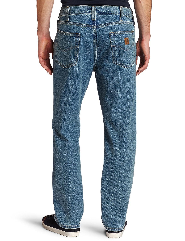 e3e2b376bad Carhartt Men's Traditional Fit Denim Five Pocket Jean B480 at Amazon Men's  Clothing store: