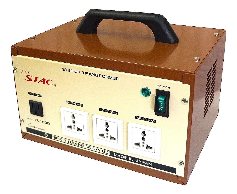 電源トランス 変圧器 100V⇒110V/200V/220V/240V 昇圧器 最大容量 1500VA 日本製 SU1500 B07KZ4ZSJN