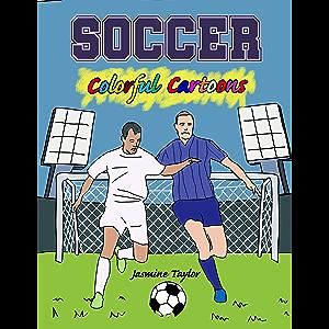 Soccer Colorful Cartoon Illustrations