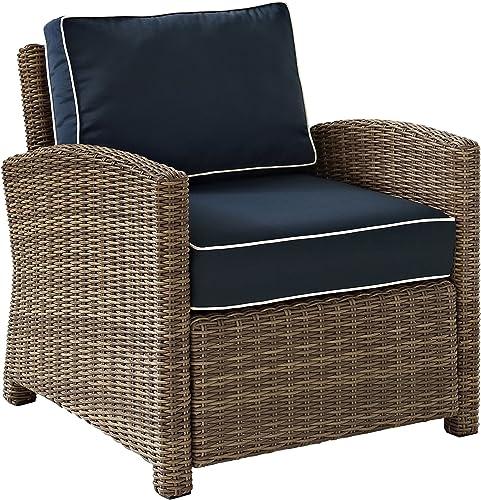 Crosley Furniture KO70023WB-NV Bradenton Outdoor Wicker Arm Chair