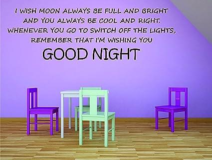 Amazon.com: KIDS AND BABY BEDROOM GOOD NIGHT AND SLEEP WELL ...