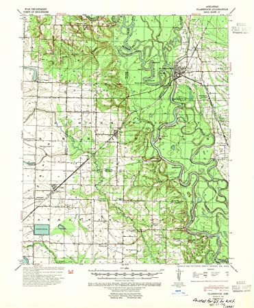 Amazon.com: Arkansas Maps | 1941 Clarendon, AR USGS Historical ...