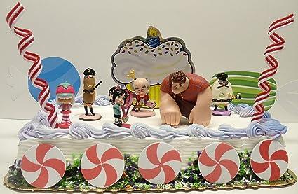 Wreck It Ralph Sugar Rush Candy Land Birthday Cake Topper Set Featuring
