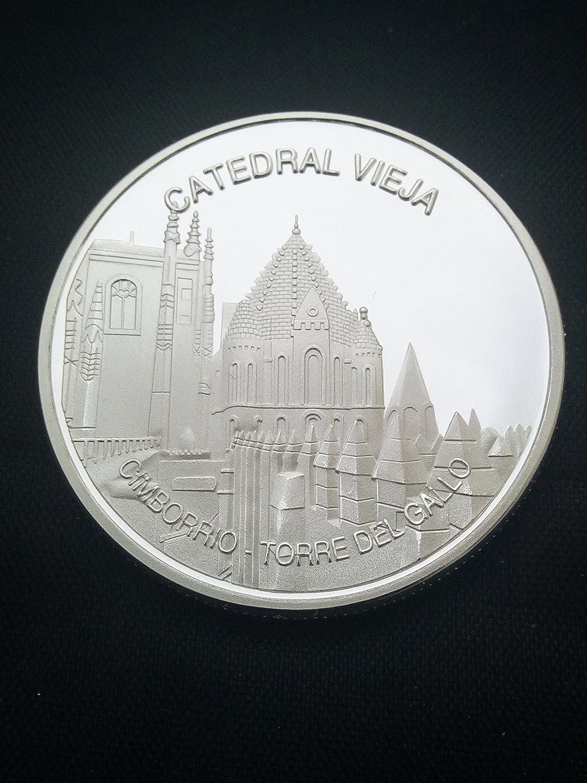 Moneda bañada en plata Catedral vieja de Salamanca: Amazon ...